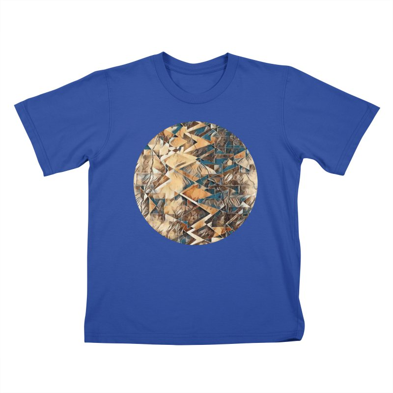 Opposing Forces Abstract Design Kids T-Shirt by Tee Panic T-Shirt Shop by Muzehack