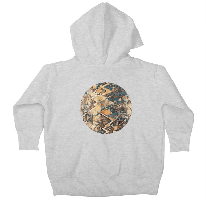 Opposing Forces Abstract Design Kids Baby Zip-Up Hoody by Tee Panic T-Shirt Shop by Muzehack