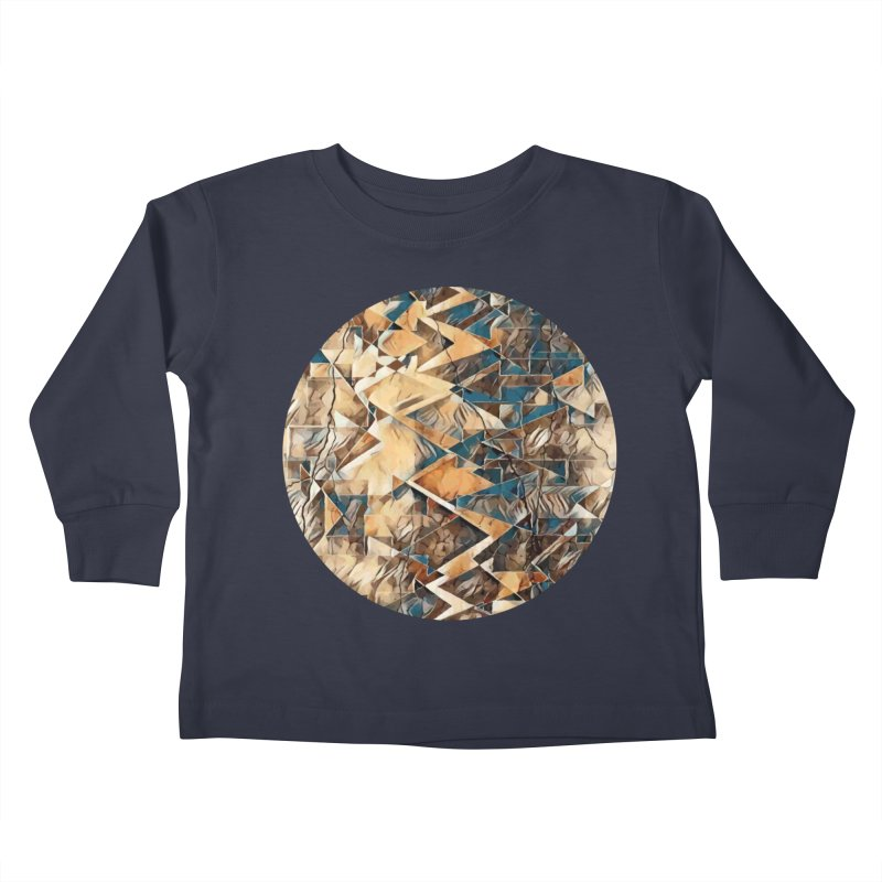 Opposing Forces Abstract Design Kids Toddler Longsleeve T-Shirt by Tee Panic T-Shirt Shop by Muzehack