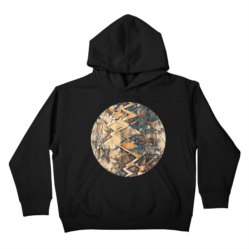 Opposing Forces Abstract Design Kids Pullover Hoody by Tee Panic T-Shirt Shop by Muzehack