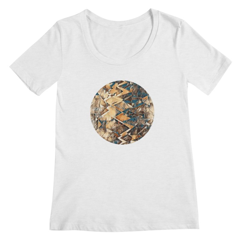 Opposing Forces Abstract Design Women's Regular Scoop Neck by Tee Panic T-Shirt Shop by Muzehack