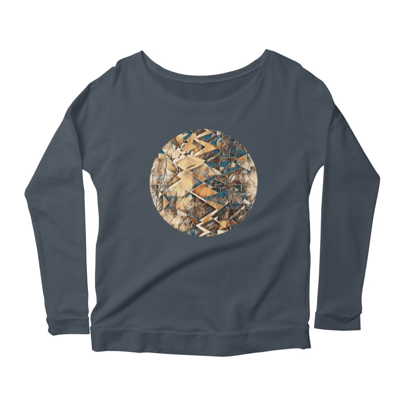 Opposing Forces Abstract Design Women's Scoop Neck Longsleeve T-Shirt by Tee Panic T-Shirt Shop by Muzehack