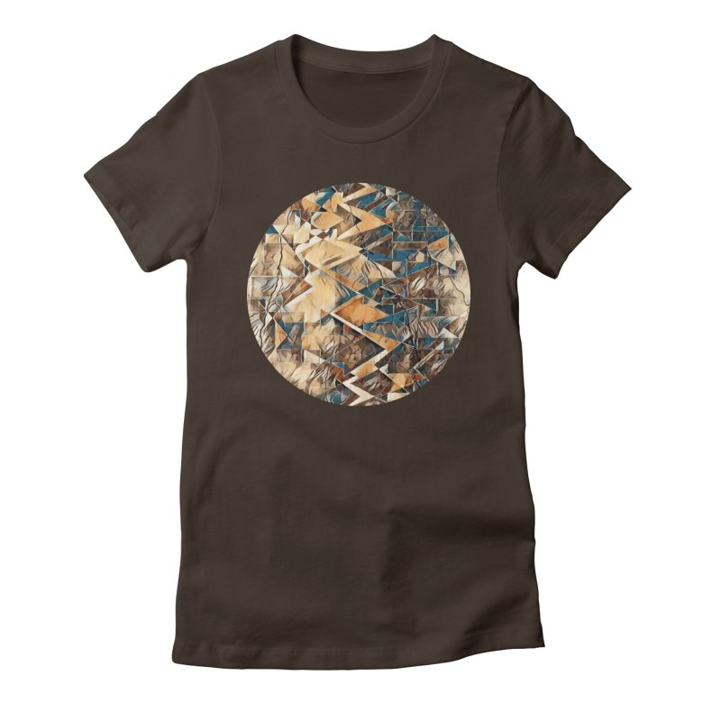 Opposing Forces Abstract Design Women's Fitted T-Shirt by Tee Panic T-Shirt Shop by Muzehack