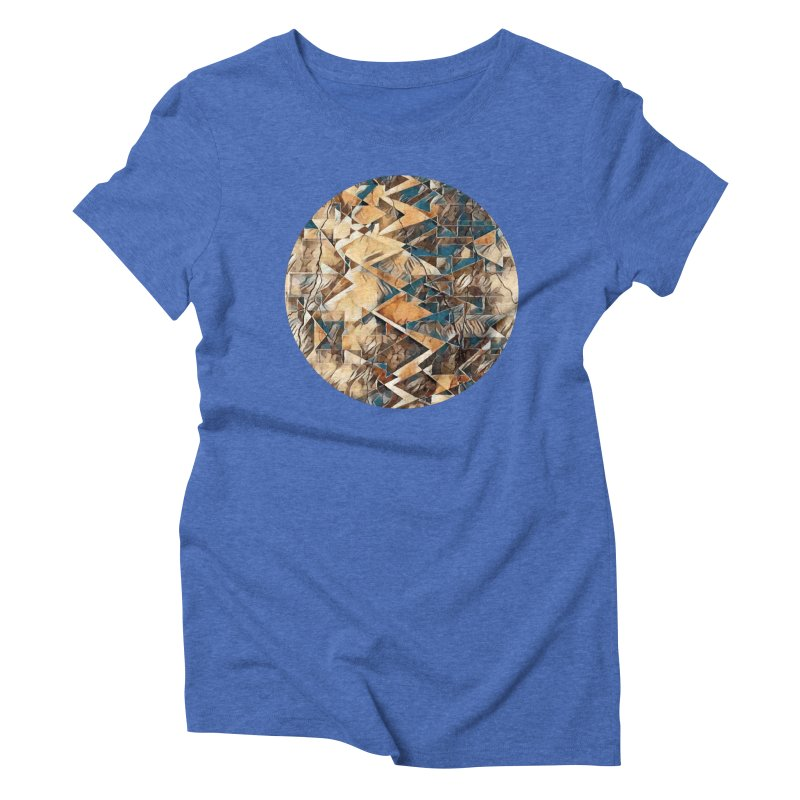 Opposing Forces Abstract Design Women's Triblend T-Shirt by Tee Panic T-Shirt Shop by Muzehack