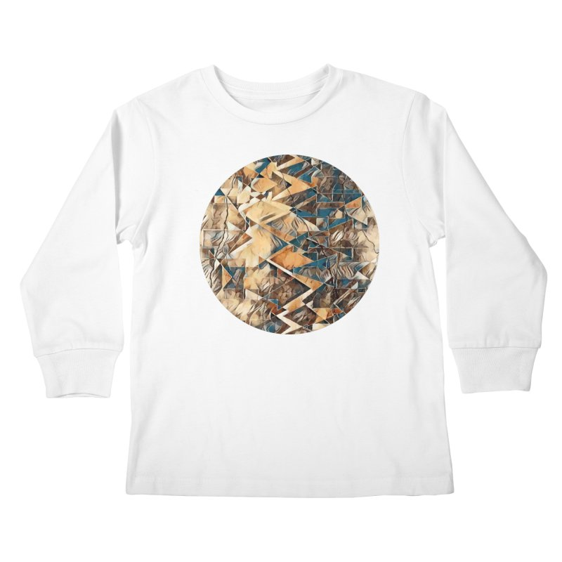 Opposing Forces Abstract Design Kids Longsleeve T-Shirt by Tee Panic T-Shirt Shop by Muzehack