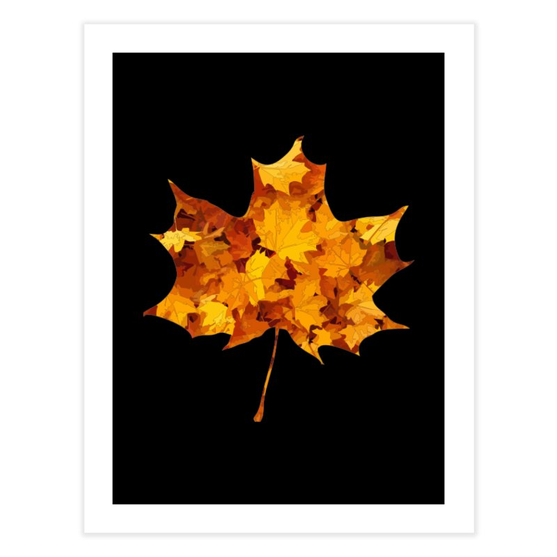Autumn Colors Home Fine Art Print by Tee Panic T-Shirt Shop by Muzehack