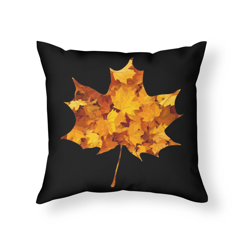 Autumn Colors Home Throw Pillow by Tee Panic T-Shirt Shop by Muzehack