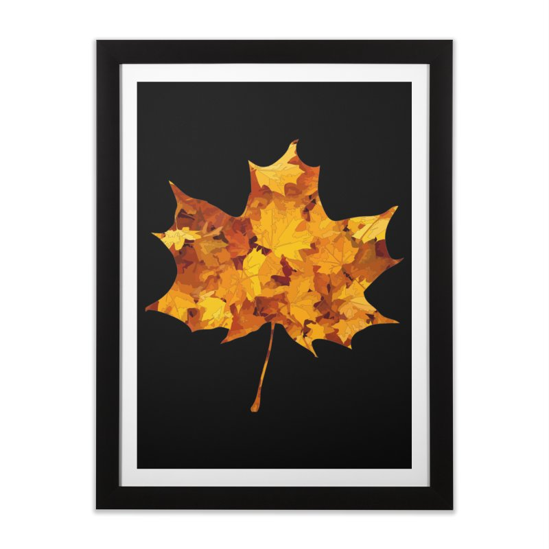Autumn Colors Home Framed Fine Art Print by Tee Panic T-Shirt Shop by Muzehack