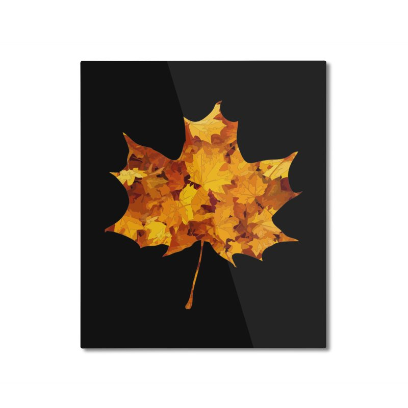 Autumn Colors Home Mounted Aluminum Print by Tee Panic T-Shirt Shop by Muzehack