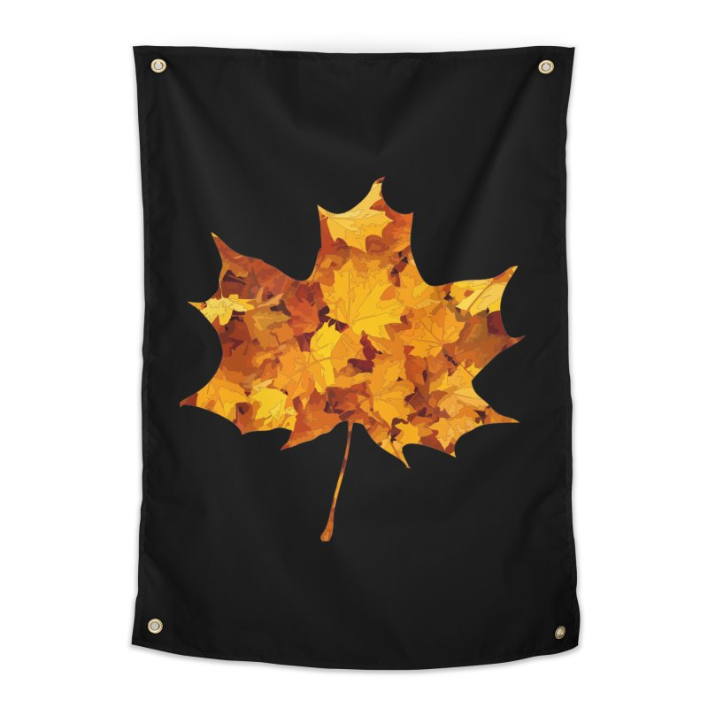 Autumn Colors Home Tapestry by Tee Panic T-Shirt Shop by Muzehack