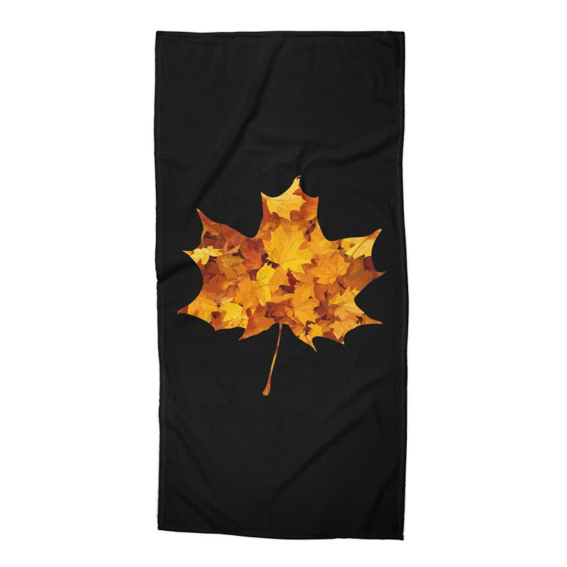 Autumn Colors Accessories Beach Towel by Tee Panic T-Shirt Shop by Muzehack