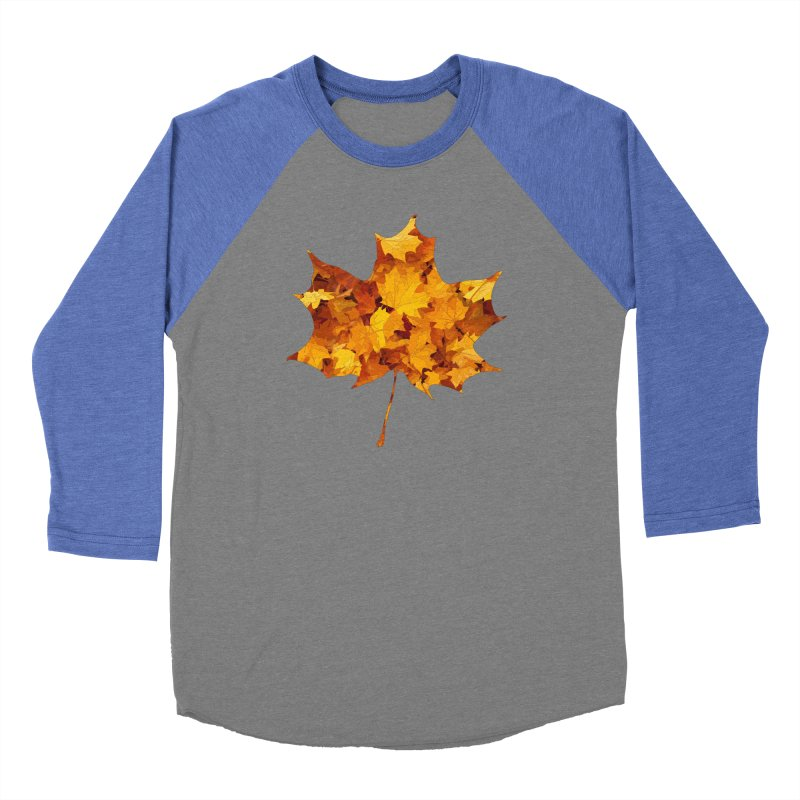 Autumn Colors Men's Baseball Triblend Longsleeve T-Shirt by Tee Panic T-Shirt Shop by Muzehack