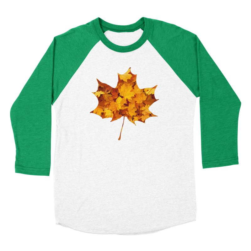 Autumn Colors Men's Baseball Triblend Longsleeve T-Shirt by Tee Panic T-Shirt Shop by Muzehack