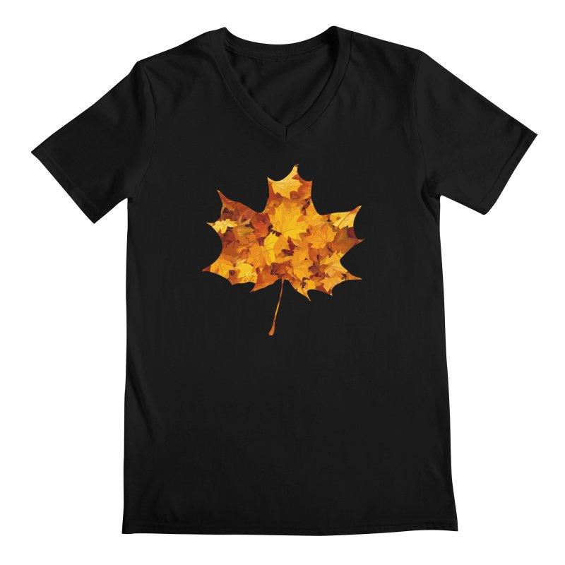 Autumn Colors Men's Regular V-Neck by Tee Panic T-Shirt Shop by Muzehack