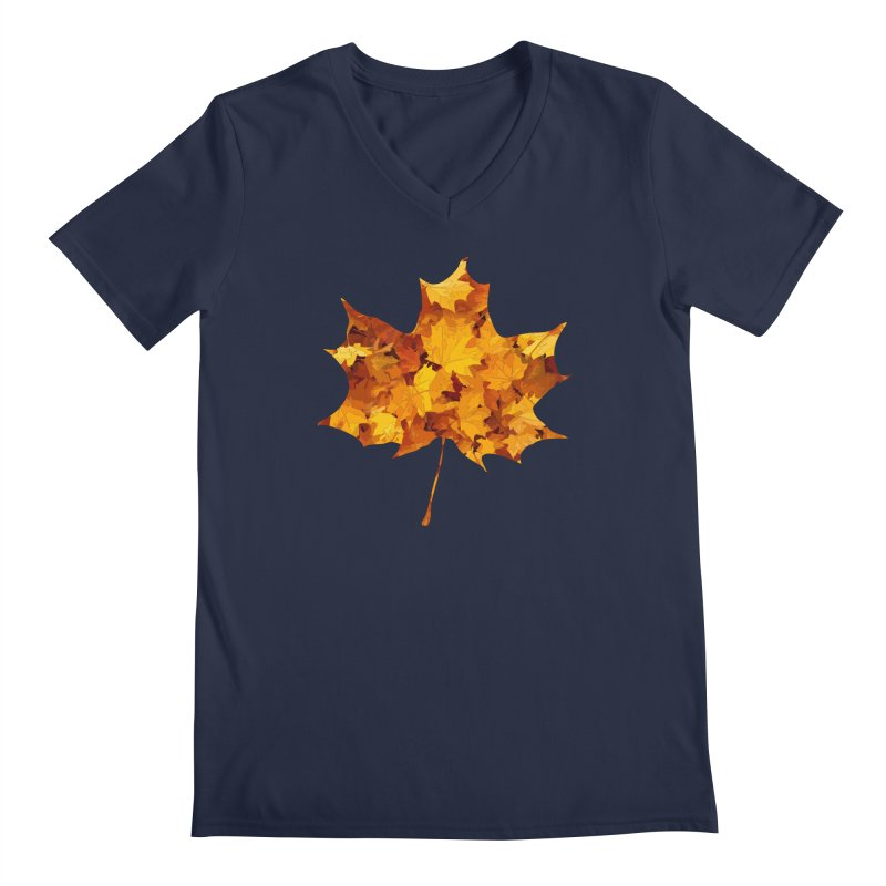 Autumn Colors Men's Regular V-Neck by Tee Panic T-Shirt Shop by Muzehack
