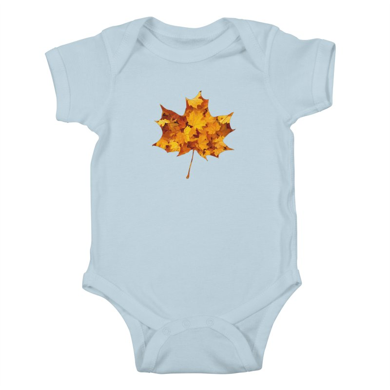 Autumn Colors Kids Baby Bodysuit by Tee Panic T-Shirt Shop by Muzehack