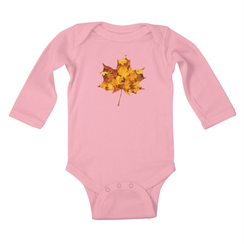 Autumn Colors Kids Baby Longsleeve Bodysuit by Tee Panic T-Shirt Shop by Muzehack