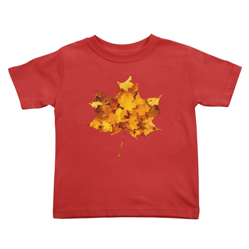 Autumn Colors Kids Toddler T-Shirt by Tee Panic T-Shirt Shop by Muzehack