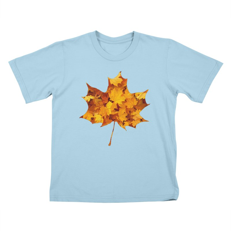 Autumn Colors Kids T-Shirt by Tee Panic T-Shirt Shop by Muzehack