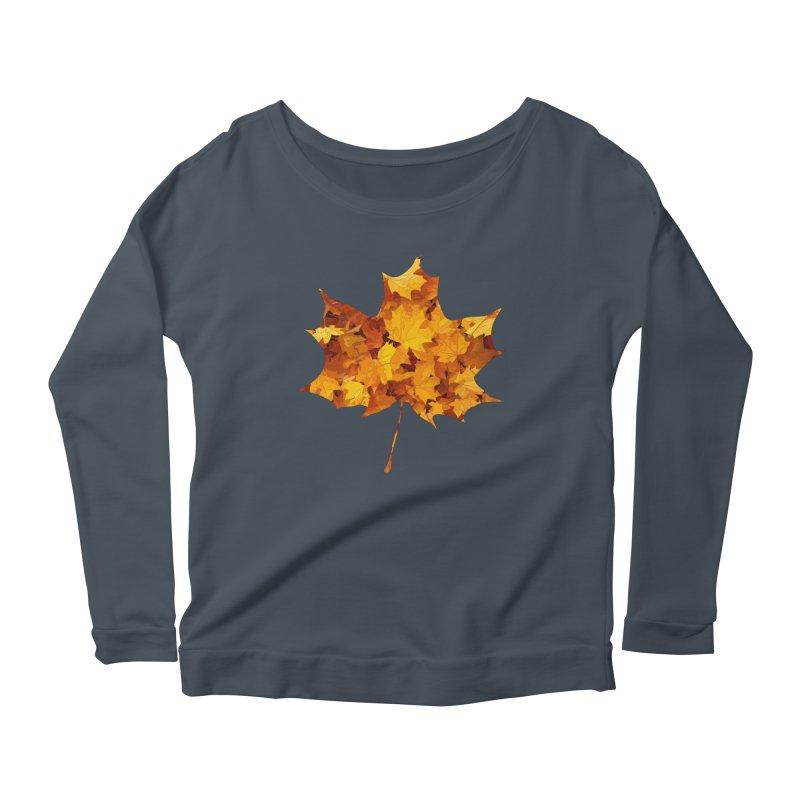 Autumn Colors Women's Scoop Neck Longsleeve T-Shirt by Tee Panic T-Shirt Shop by Muzehack
