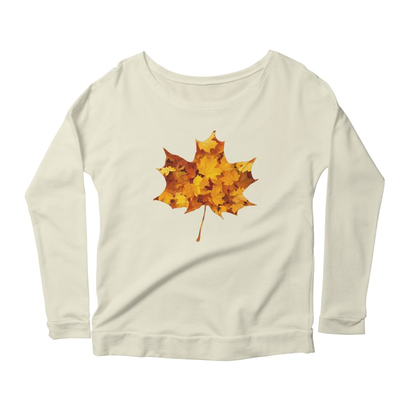 Autumn Colors Women's Scoop Neck Longsleeve T-Shirt by Tee Panic T-Shirt Shop by Muzehack
