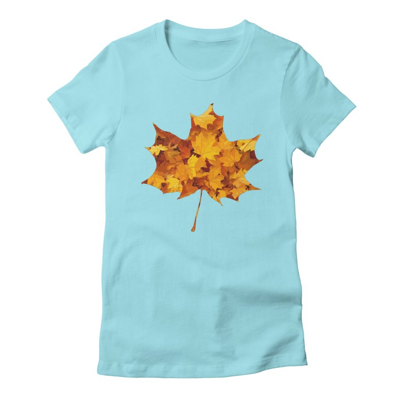 Autumn Colors Women's Fitted T-Shirt by Tee Panic T-Shirt Shop by Muzehack