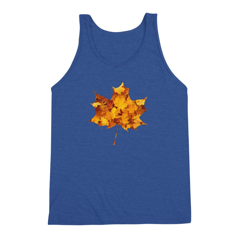 Autumn Colors Men's Triblend Tank by Tee Panic T-Shirt Shop by Muzehack