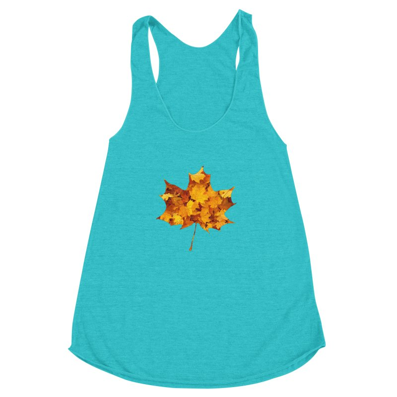 Autumn Colors Women's Racerback Triblend Tank by Tee Panic T-Shirt Shop by Muzehack