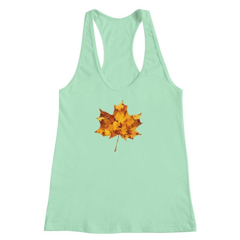 Autumn Colors Women's Racerback Tank by Tee Panic T-Shirt Shop by Muzehack