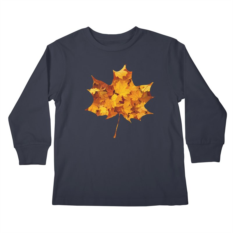 Autumn Colors Kids Longsleeve T-Shirt by Tee Panic T-Shirt Shop by Muzehack