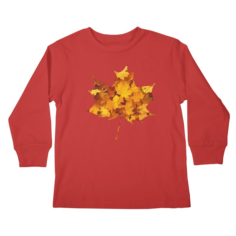 Autumn Colors Kids Longsleeve T-Shirt by Tee Panic T-Shirt Shop by Muzehack