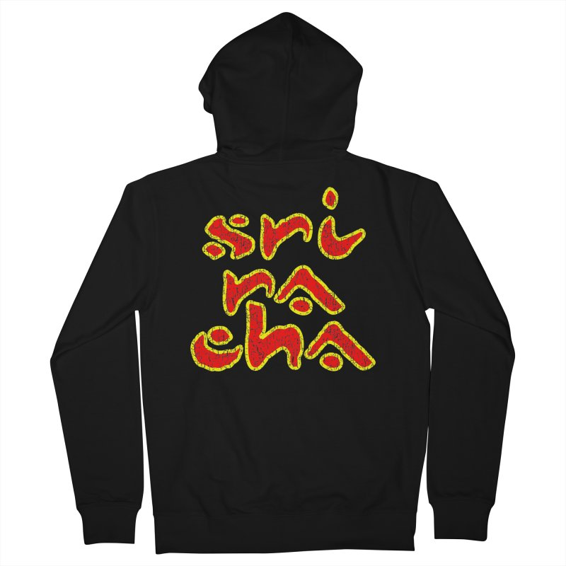 Sriracha T-shirt Men's French Terry Zip-Up Hoody by Tee Panic T-Shirt Shop by Muzehack