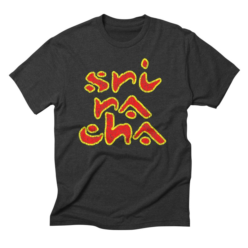Sriracha T-shirt Men's Triblend T-Shirt by Tee Panic T-Shirt Shop by Muzehack