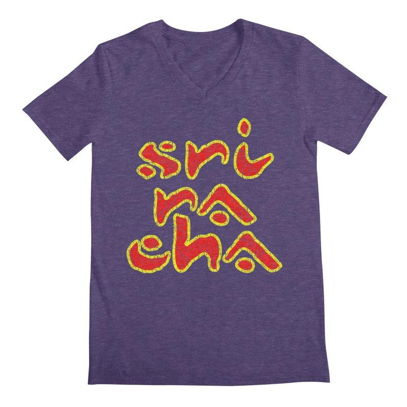 Sriracha T-shirt Men's Regular V-Neck by Tee Panic T-Shirt Shop by Muzehack