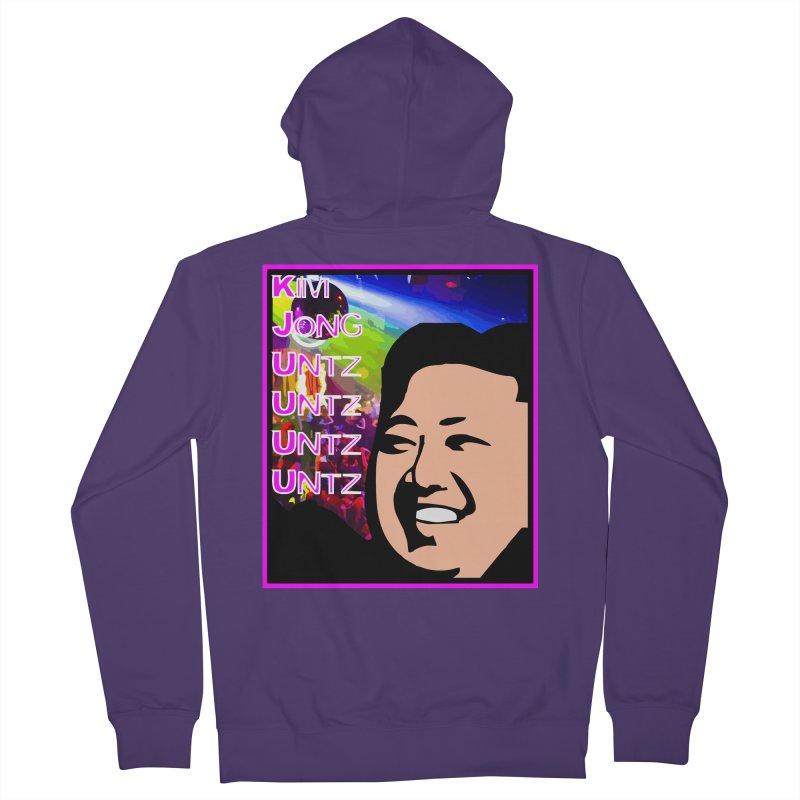 Kim Jong Untz Untz Untz Untz Women's French Terry Zip-Up Hoody by Tee Panic T-Shirt Shop by Muzehack