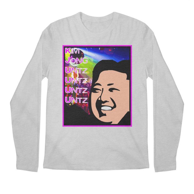 Kim Jong Untz Untz Untz Untz Men's Regular Longsleeve T-Shirt by Tee Panic T-Shirt Shop by Muzehack