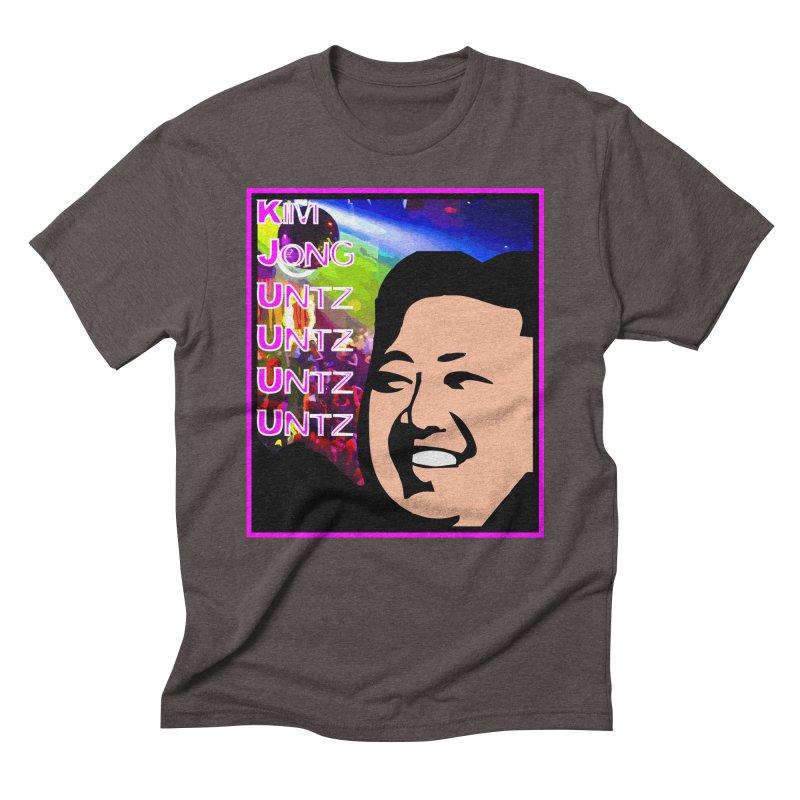 Kim Jong Untz Untz Untz Untz Men's Triblend T-Shirt by Tee Panic T-Shirt Shop by Muzehack