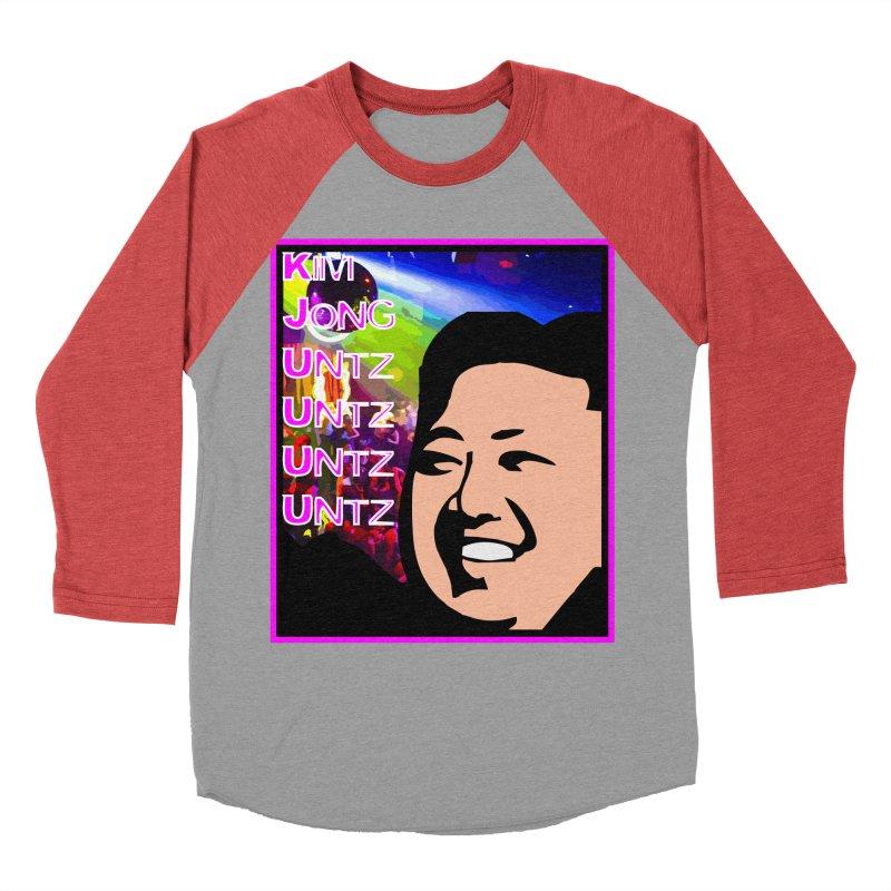 Kim Jong Untz Untz Untz Untz Women's Baseball Triblend Longsleeve T-Shirt by Tee Panic T-Shirt Shop by Muzehack