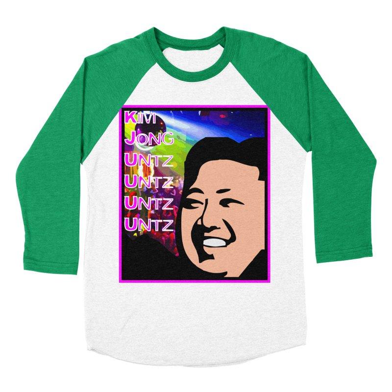Kim Jong Untz Untz Untz Untz Men's Baseball Triblend Longsleeve T-Shirt by Tee Panic T-Shirt Shop by Muzehack