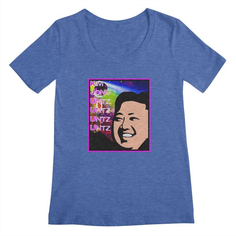 Kim Jong Untz Untz Untz Untz Women's Regular Scoop Neck by Tee Panic T-Shirt Shop by Muzehack