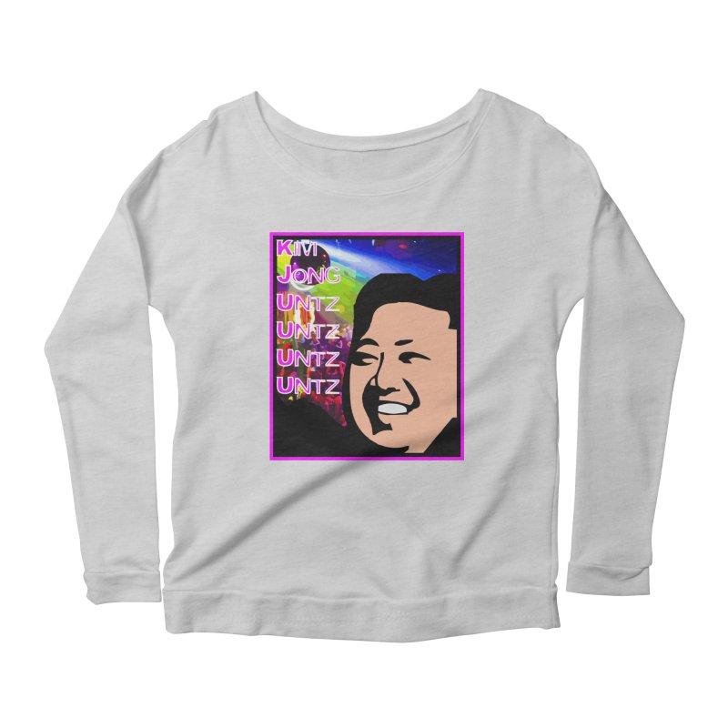 Kim Jong Untz Untz Untz Untz Women's Scoop Neck Longsleeve T-Shirt by Tee Panic T-Shirt Shop by Muzehack