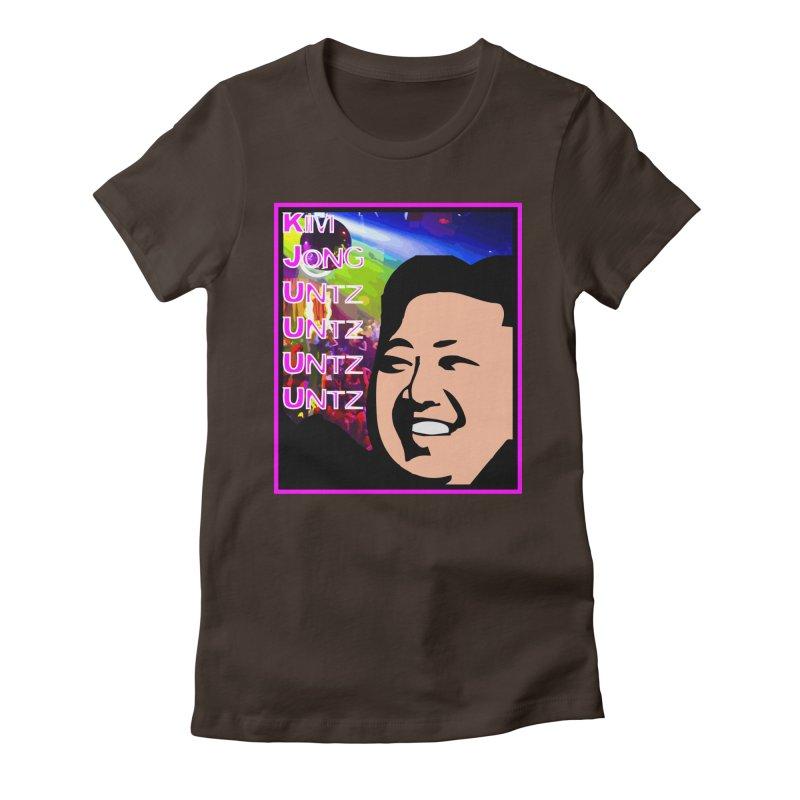 Kim Jong Untz Untz Untz Untz Women's Fitted T-Shirt by Tee Panic T-Shirt Shop by Muzehack