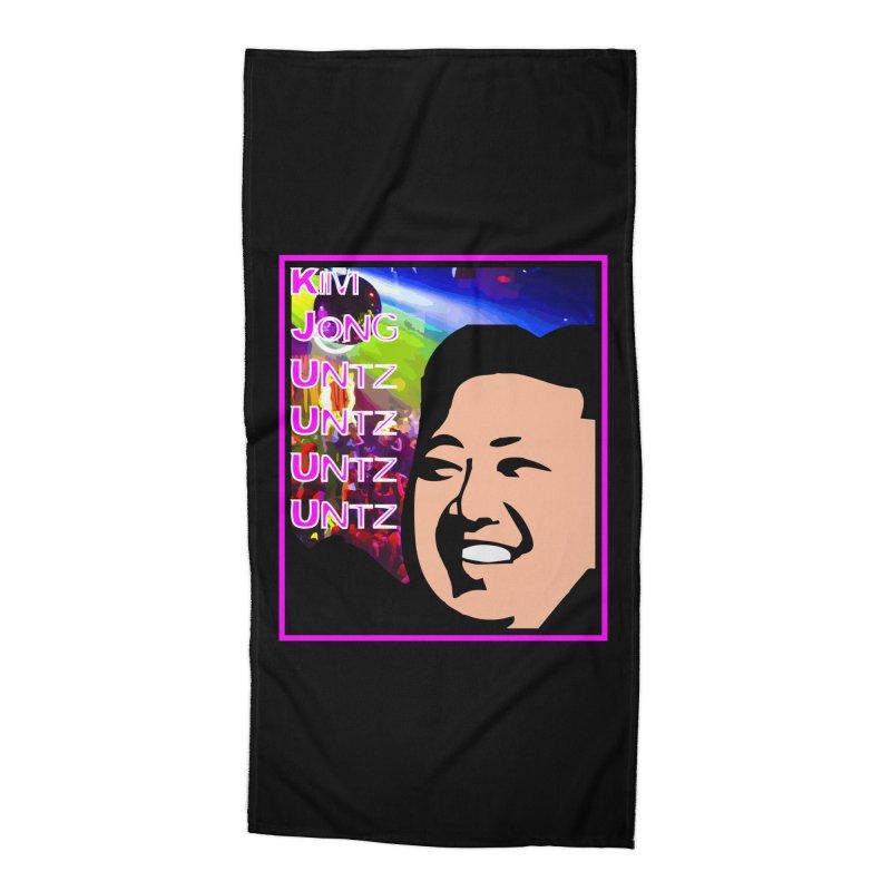 Kim Jong Untz Untz Untz Untz Accessories Beach Towel by Tee Panic T-Shirt Shop by Muzehack