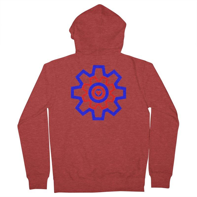 Love Machine Men's French Terry Zip-Up Hoody by Tee Panic T-Shirt Shop by Muzehack