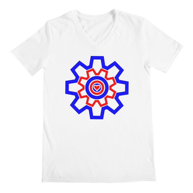 Love Machine Men's Regular V-Neck by Tee Panic T-Shirt Shop by Muzehack