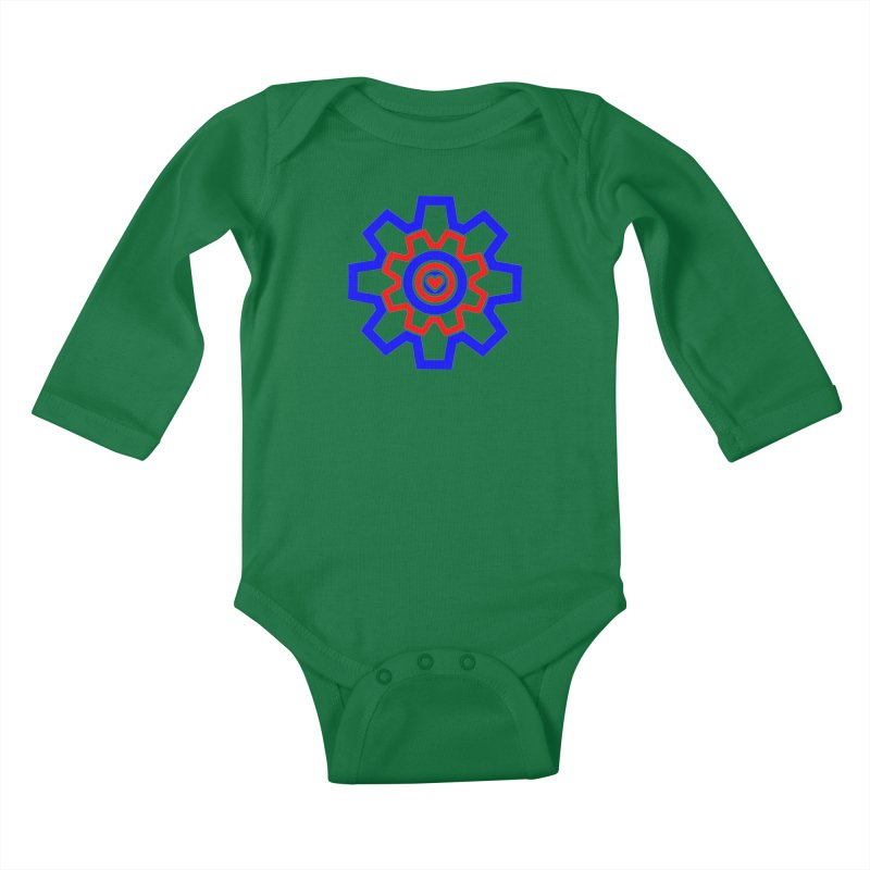 Love Machine Kids Baby Longsleeve Bodysuit by Tee Panic T-Shirt Shop by Muzehack