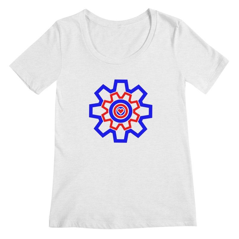 Love Machine Women's Regular Scoop Neck by Tee Panic T-Shirt Shop by Muzehack