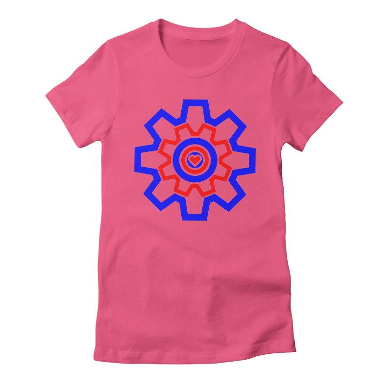 Love Machine Women's Fitted T-Shirt by Tee Panic T-Shirt Shop by Muzehack