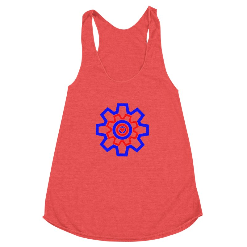 Love Machine Women's Racerback Triblend Tank by Tee Panic T-Shirt Shop by Muzehack