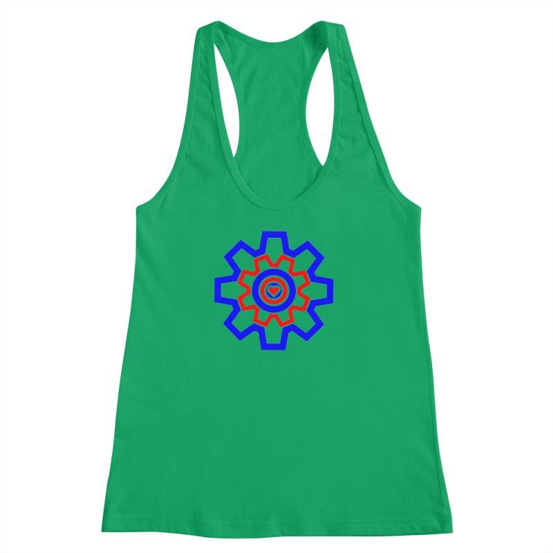 Love Machine Women's Racerback Tank by Tee Panic T-Shirt Shop by Muzehack